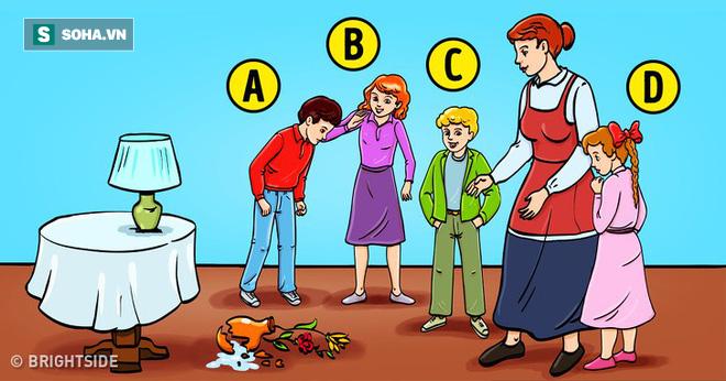Đứa trẻ nào làm vỡ hoa?: Câu trả lời cũng bộc lộ tính cách bạn - Ảnh 1.