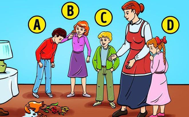 Đứa trẻ nào làm vỡ hoa?: Câu trả lời cũng bộc lộ tính cách bạn
