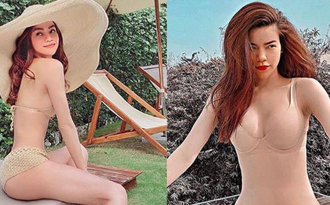 Loạt ảnh bikini nóng bỏng của Hồ Ngọc Hà khi đi du lịch cùng Kim Lý