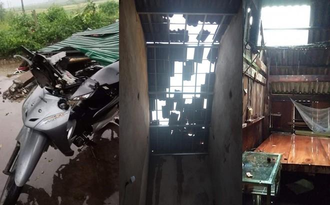 Mưa đá, gió lốc càn quét Nghệ An, Hà Tĩnh khiến nhiều nhà hư hỏng, cây đổ hàng loạt