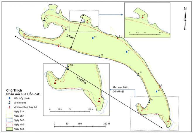Hình thành các vịnh kín ở cồn cát khổng lồ nổi lên giữa biển Hội An - Ảnh 1.