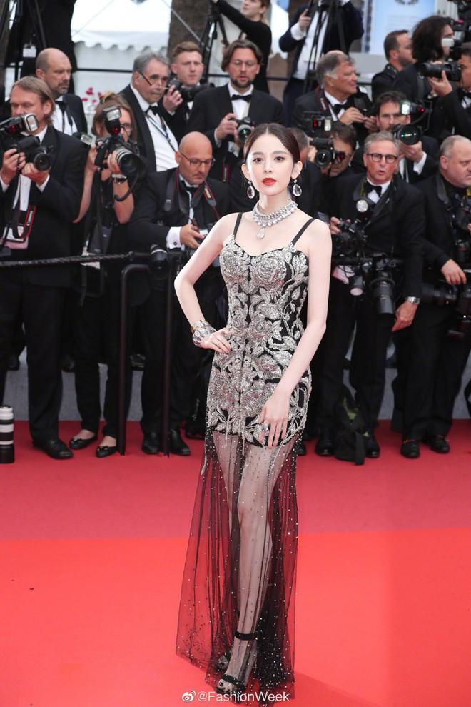 Mỹ nhân bị nhầm với Ngọc Trinh: Nàng công chúa Hoa ngữ đẹp ná thở tại Cannes bất chấp ảnh không photoshop - Ảnh 2.