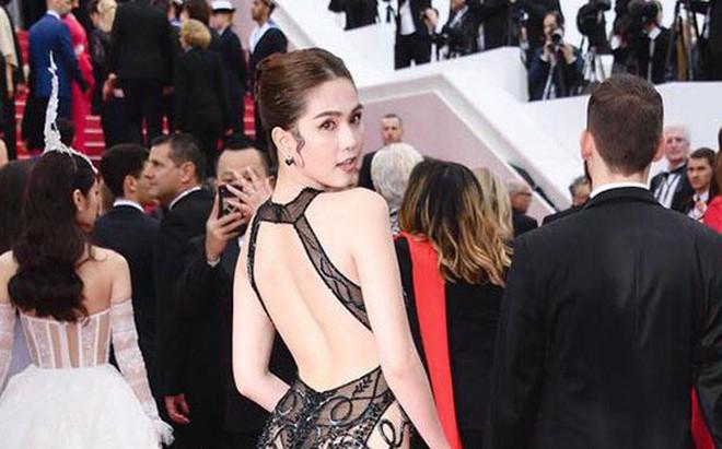 Ngọc Trinh gây sốc khi ăn vận táo bạo tại thảm đỏ LHP Cannes 2019