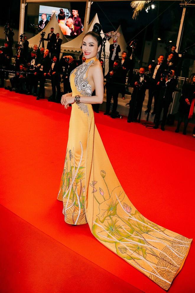 Hoa hậu Tuyết Nga khoe vai trần gợi cảm trên thảm đỏ Cannes - Ảnh 2.