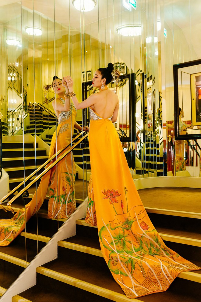 Hoa hậu Tuyết Nga khoe vai trần gợi cảm trên thảm đỏ Cannes - Ảnh 10.