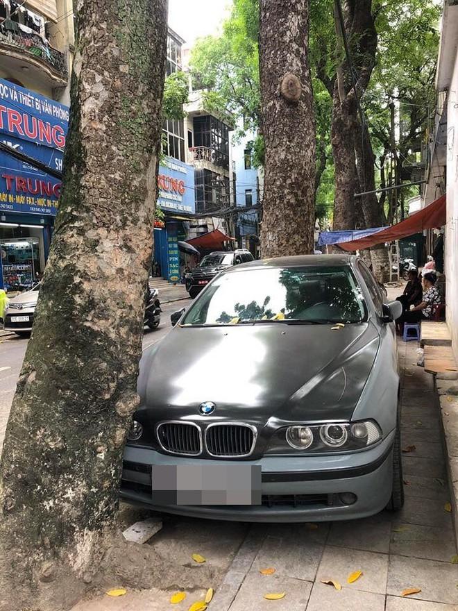 Màn đỗ xe đỉnh cao trên phố Hà Nội khiến dân mạng hoang mang: Xe hay cây có trước? - Ảnh 3.