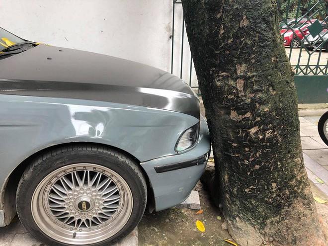 Màn đỗ xe đỉnh cao trên phố Hà Nội khiến dân mạng hoang mang: Xe hay cây có trước? - Ảnh 4.