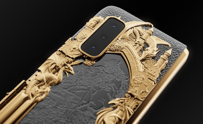 Chiêm ngưỡng Galaxy Fold dát vàng cho fan cuồng Game of Thrones: Vỏn vẹn 7 chiếc, đắt gần 200 triệu đồng - Ảnh 5.