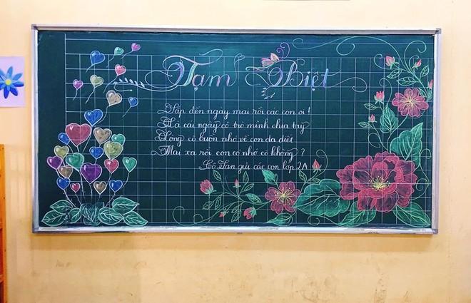 Giáo viên dành giờ nghỉ trưa thiết kế bảng tổng kết viết tay cực đẹp - Ảnh 6.