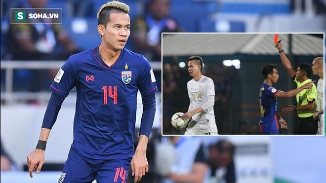 Quá xấu hổ, cầu thủ Thái Lan đấm trọng tài bất ngờ xin rút khỏi ĐTQG dự King's Cup - Ảnh 1.