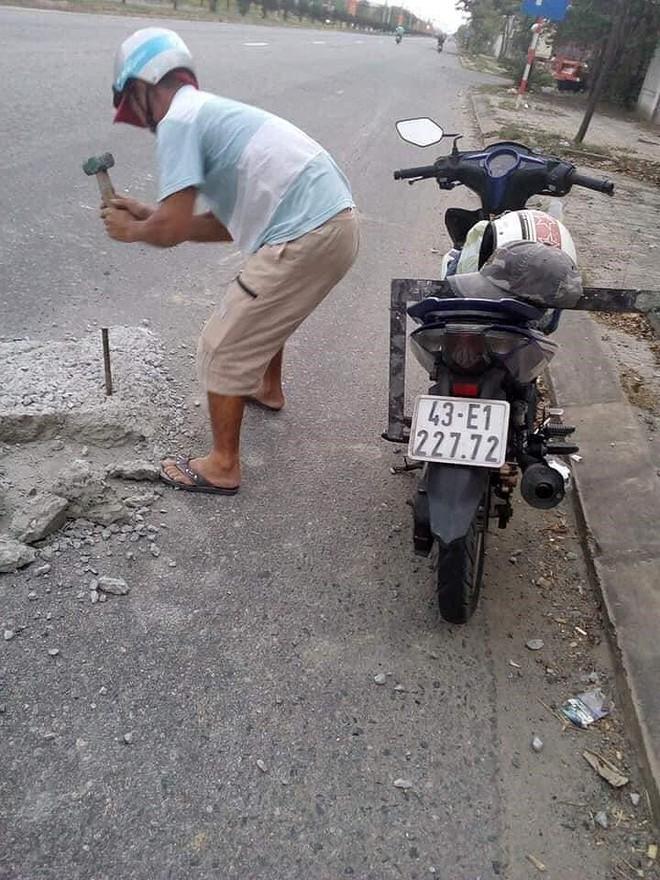 Người đàn ông đục bê tông trên đường chia sẻ việc mình làm  - Ảnh 1.