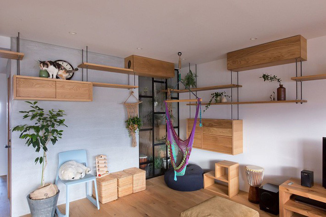 Căn hộ 85m² đẹp dịu dàng và ấm áp với màu gỗ của gia đình trẻ ở Nhật Bản - Ảnh 5.