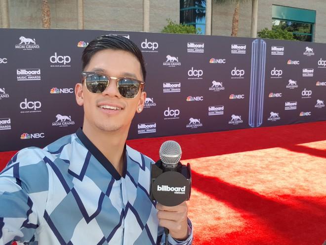 Trọng Hiếu mặc hàng hiệu, xuất hiện trên thảm đỏ Billboard Music Awards 2019 - Ảnh 4.