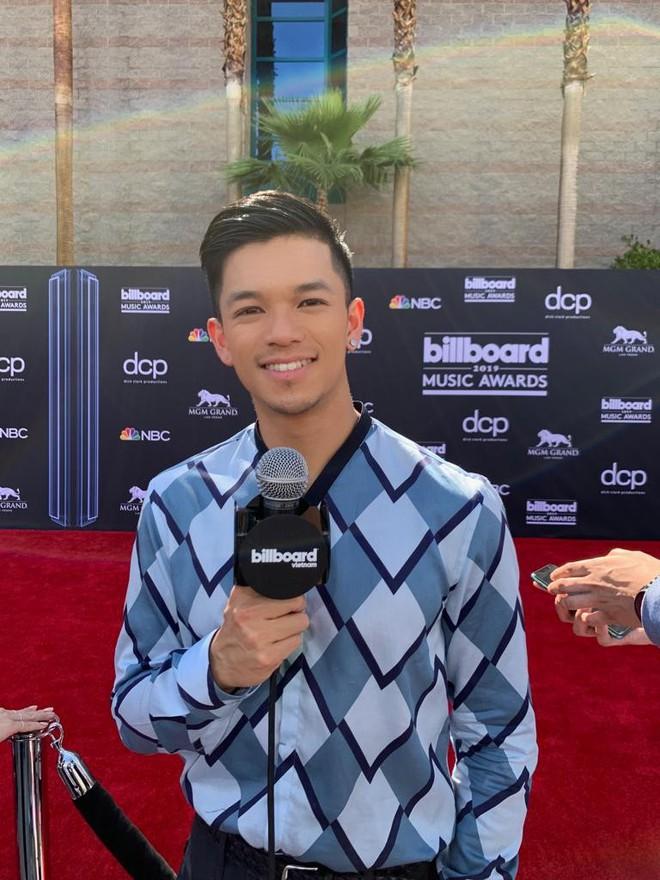 Trọng Hiếu mặc hàng hiệu, xuất hiện trên thảm đỏ Billboard Music Awards 2019 - Ảnh 7.