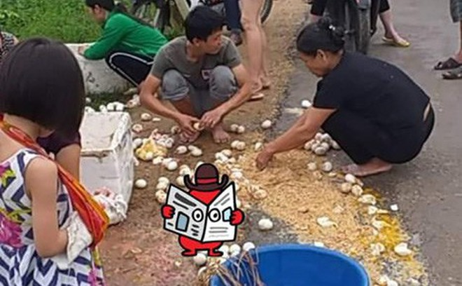 Cô bán trứng gặp nạn trên đường và cử chỉ đẹp của những người xung quanh
