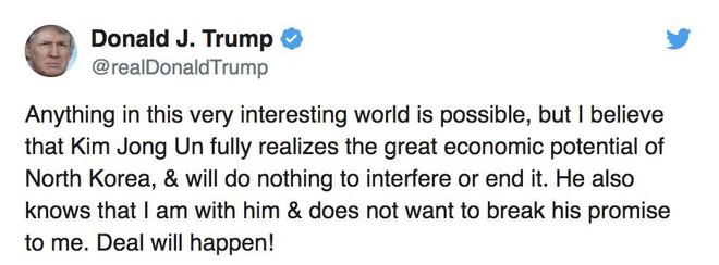 Hơn 12 tiếng sau khi Triều Tiên phóng loạt tên lửa, Tổng thống Trump có phản ứng bất thường - Ảnh 1.
