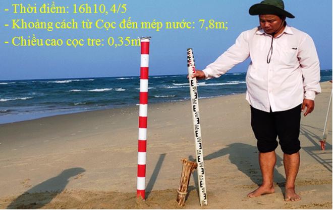 Đảo cát lạ giữa biển Cửa Đại biến đổi phức tạp - Ảnh 1.