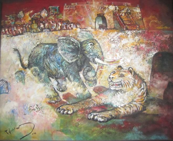 Cách tuyển voi oai hùng trong sử Việt: 500 lính múa đao xông tới, voi Chúa Nguyễn vẫn đứng yên - Ảnh 5.