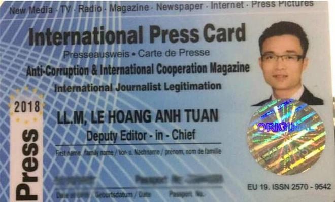 Thẻ nhà báo quốc tế của Lê Hoàng Anh Tuấn giá chỉ... hơn 4 triệu đồng - Ảnh 1.