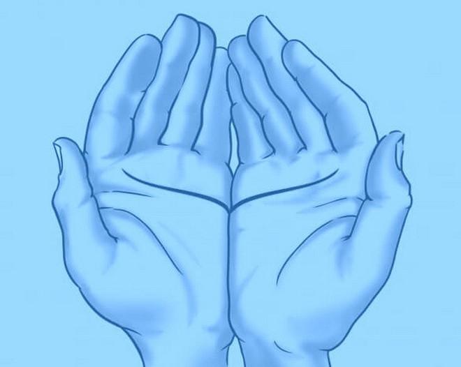 Đặt 2 lòng bàn tay cạnh nhau, bói đường chỉ tay, luận giải tình duyên - Ảnh 3.