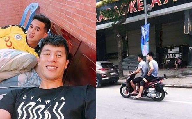 Cộng đồng mạng: Cần phạt nguội hai ngôi sao của tuyển Việt Nam không đội nón bảo hiểm