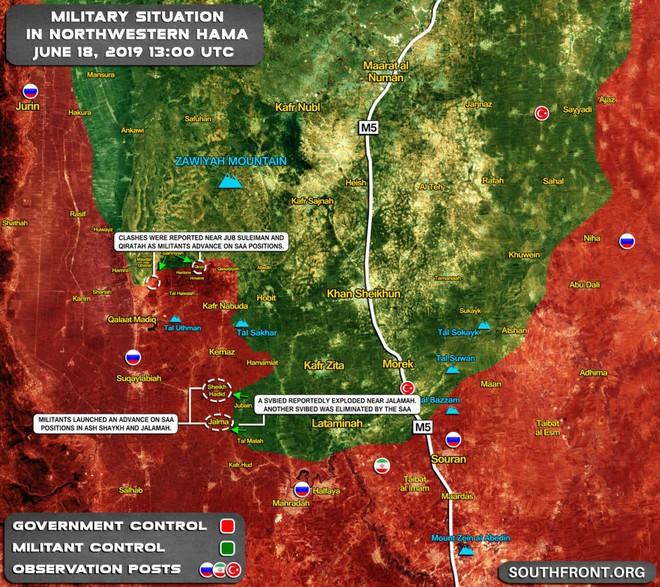 Phiến quân vừa đồng loạt tấn công tổng lực - Ngày căng thẳng của QĐ Syria - Ảnh 1.