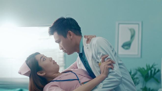 Xuân Nghị, Thúy Ngân diễn cảnh tình cảm trong phim mới - Ảnh 5.