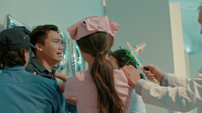 Xuân Nghị, Thúy Ngân diễn cảnh tình cảm trong phim mới - Ảnh 8.