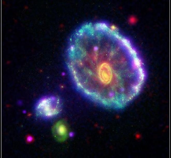 Kinh ngạc cảnh tượng ngoạn mục các thiên hà nuốt chửng nhau - Ảnh 7.