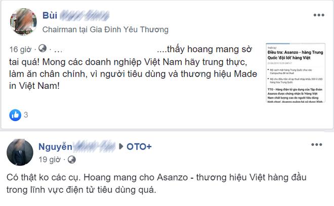 """Người tiêu dùng nói gì trước tin Asanzo bị """"tố"""" hàng Trung Quốc đội lốt hàng Việt? - Ảnh 3."""