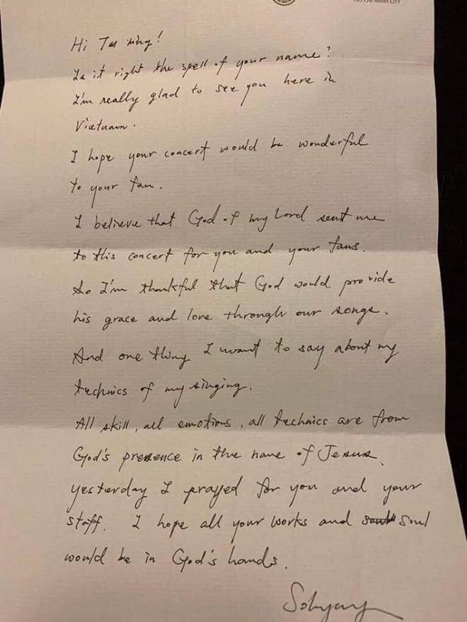 Sau scandal nghi bị chơi xấu, diva Hàn Quốc So Hyang viết thư tay cho Thu Minh - Ảnh 4.