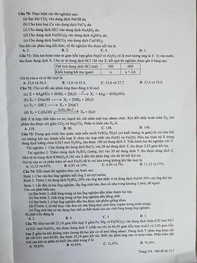 Cập nhật gợi ý đáp án thi môn Hóa học THPT Quốc gia 2019 tất cả các mã đề - Ảnh 8.