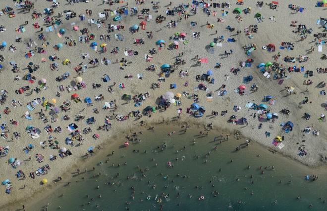 24h qua ảnh: Động vật bôi kem chống nắng trong đợt nắng nóng kỷ lục ở châu Âu - Ảnh 11.