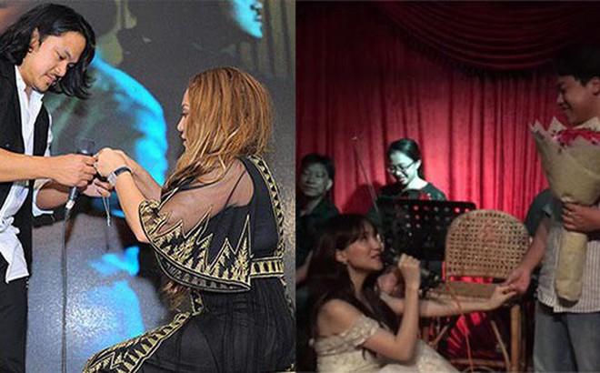 Hai nữ ca sĩ Việt nổi tiếng, sẵn sàng quỳ gối cầu hôn bạn trai giữa đám đông