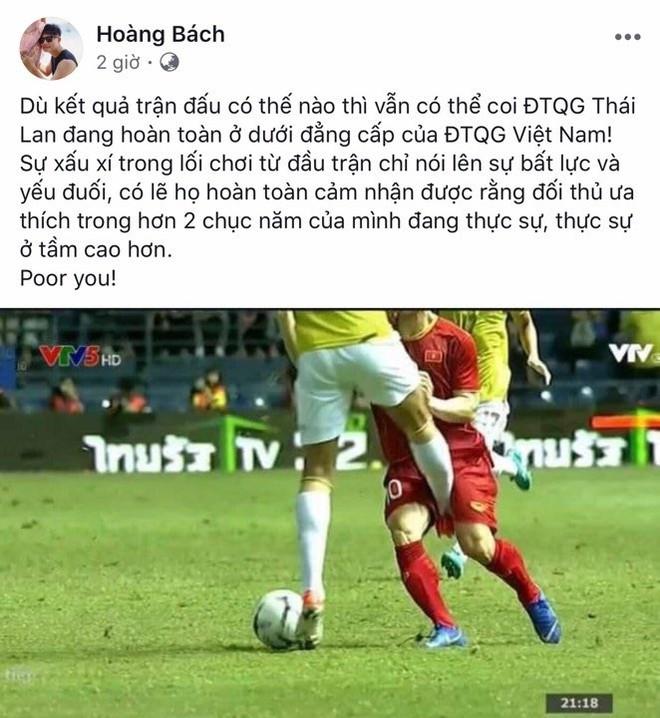 Vũ Về nhà đi con và dàn sao Việt ăn mừng ĐT Việt Nam thắng Thái Lan - Ảnh 1.
