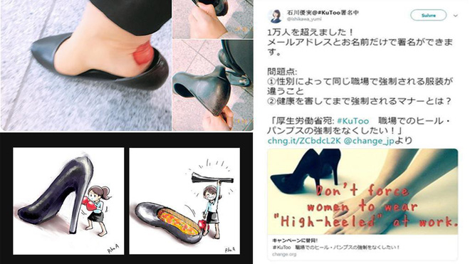 Phong trào #KuToo: Đôi chân rớm máu vì giày cao gót và lời kêu cứu của phụ nữ Nhật Bản chốn công sở - Ảnh 1.