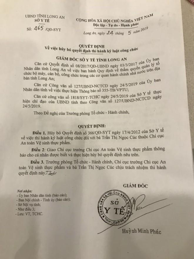 Chuyện lạ ở Long An: Một cán bộ đòi được kỷ luật - Ảnh 1.