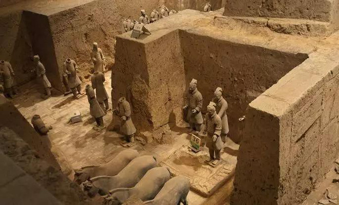 Tại sao không được phá tường giữa các chiến binh đất nung trong lăng Tần Thủy Hoàng? - Ảnh 4.