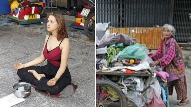 Cô gái xinh đẹp ăn xin trên phố, biết lý do ai cũng bức xúc - ảnh 1