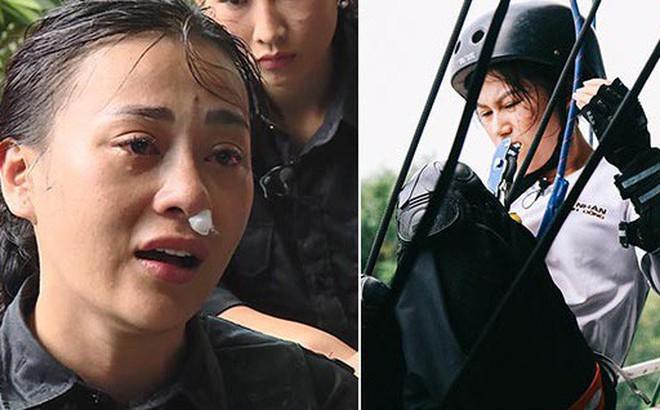 """""""Quỳnh búp bê"""" Phương Oanh gặp nhiều chấn thương khi tham gia gameshow mới"""