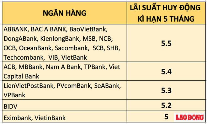 Lãi suất ngân hàng nào cao nhất kì hạn 5 tháng? - Ảnh 2.