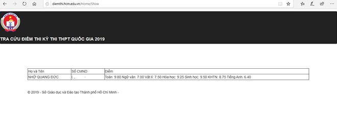 Thủ khoa của TPHCM là 28,55 điểm - Ảnh 1.