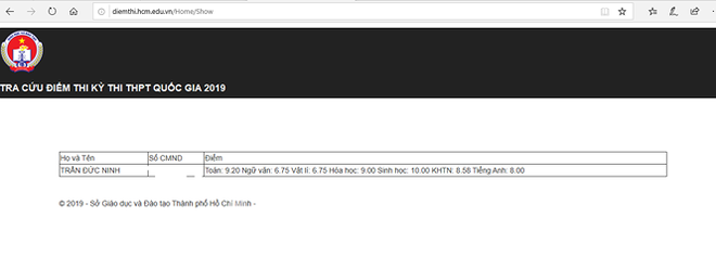 Thủ khoa của TPHCM là 28,55 điểm - Ảnh 2.