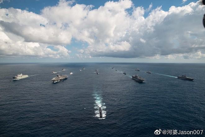[ẢNH] Tàu trinh sát điện tử Trung Quốc chen ngang cuộc tập trận cực lớn của Mỹ và đồng minh - Ảnh 1.