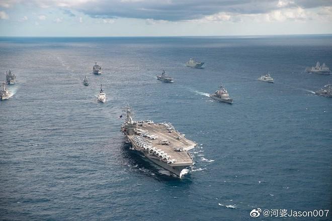 [ẢNH] Tàu trinh sát điện tử Trung Quốc chen ngang cuộc tập trận cực lớn của Mỹ và đồng minh - Ảnh 2.