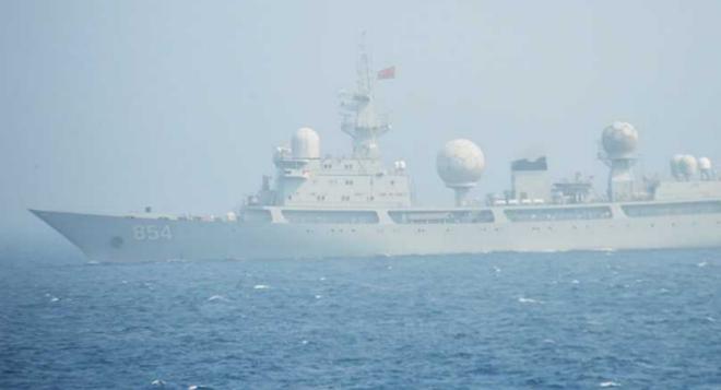 [ẢNH] Tàu trinh sát điện tử Trung Quốc chen ngang cuộc tập trận cực lớn của Mỹ và đồng minh - Ảnh 6.