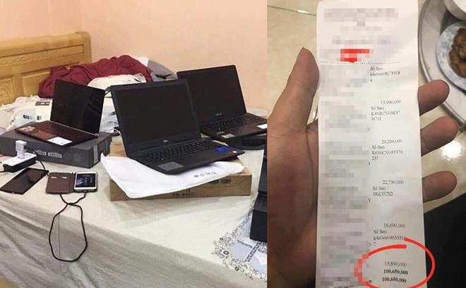Bị cằn nhằn tiêu tiền hoang phí, chồng nổi cáu, mua 5 laptop hơn 100 triệu để trị vợ