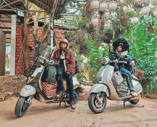 Chàng trai đưa mẹ và em gái đi phượt bằng xe máy 400 triệu khiến nhiều người trầm trồ - Ảnh 3.