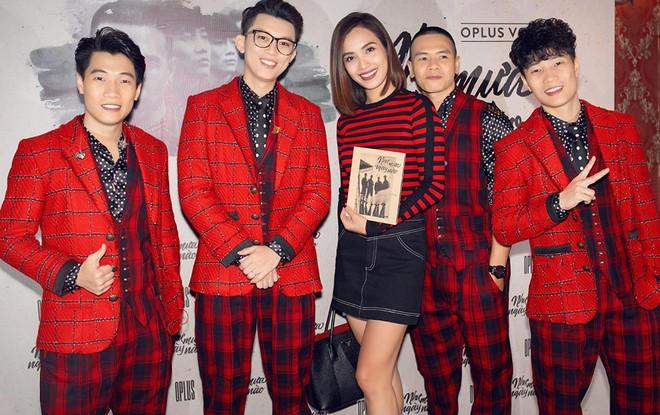Diva Hồng Nhung mặc trẻ trung, gợi cảm đến chúc mừng nhóm Oplus ra mắt album mới - Ảnh 9.