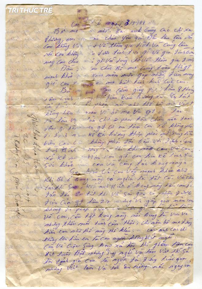 Liệt sĩ Gạc Ma và lá thư vượt Biển Đông - Ảnh 2.